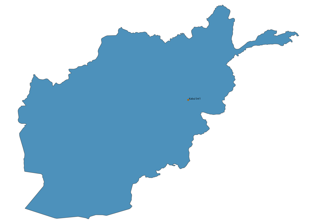 Map of Airports in Afghanistan