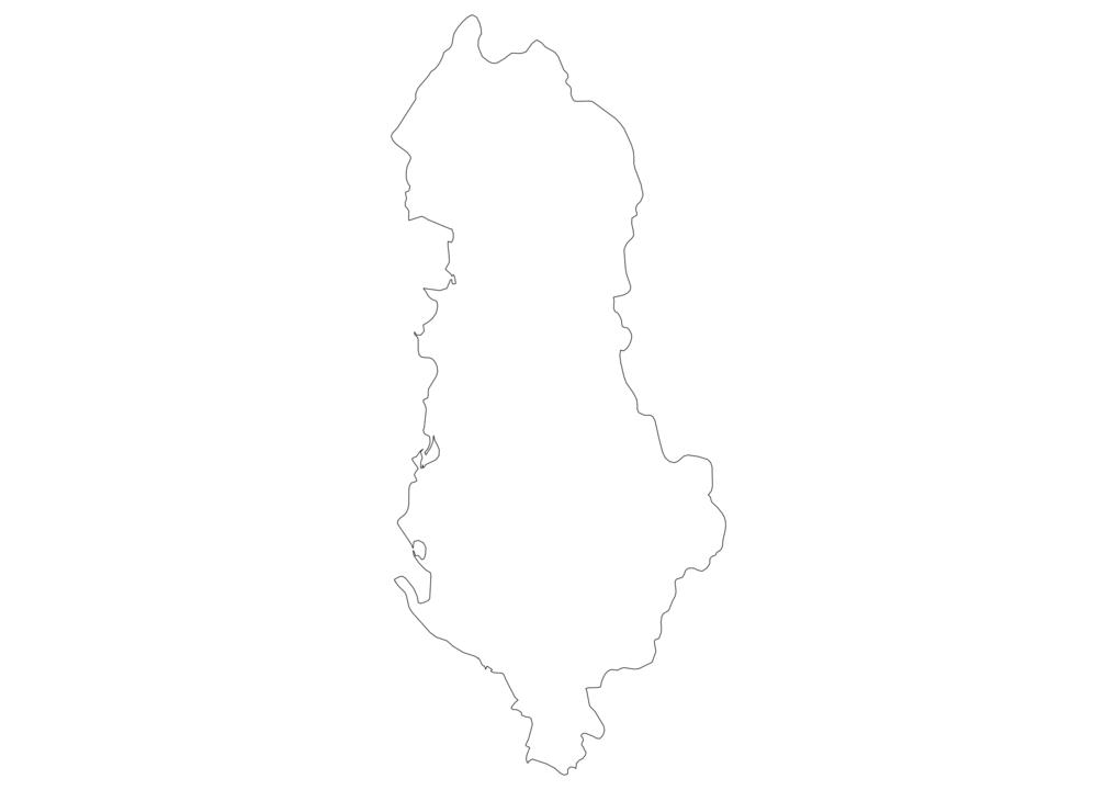 Albania Outline Map