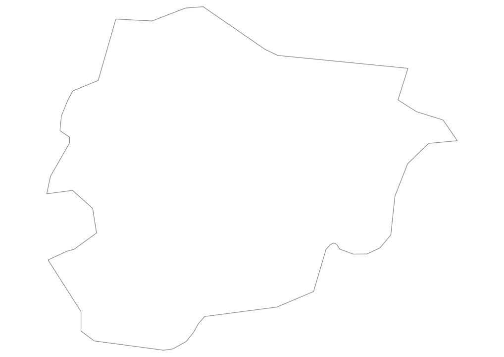 Andorra Outline Map