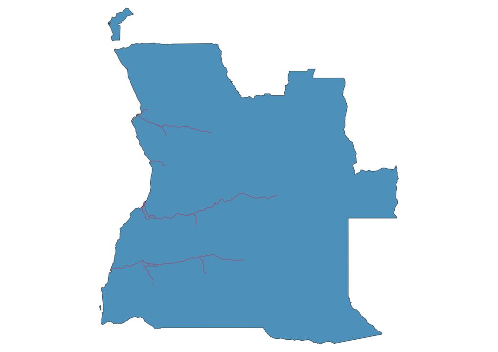 Angola Railway Map