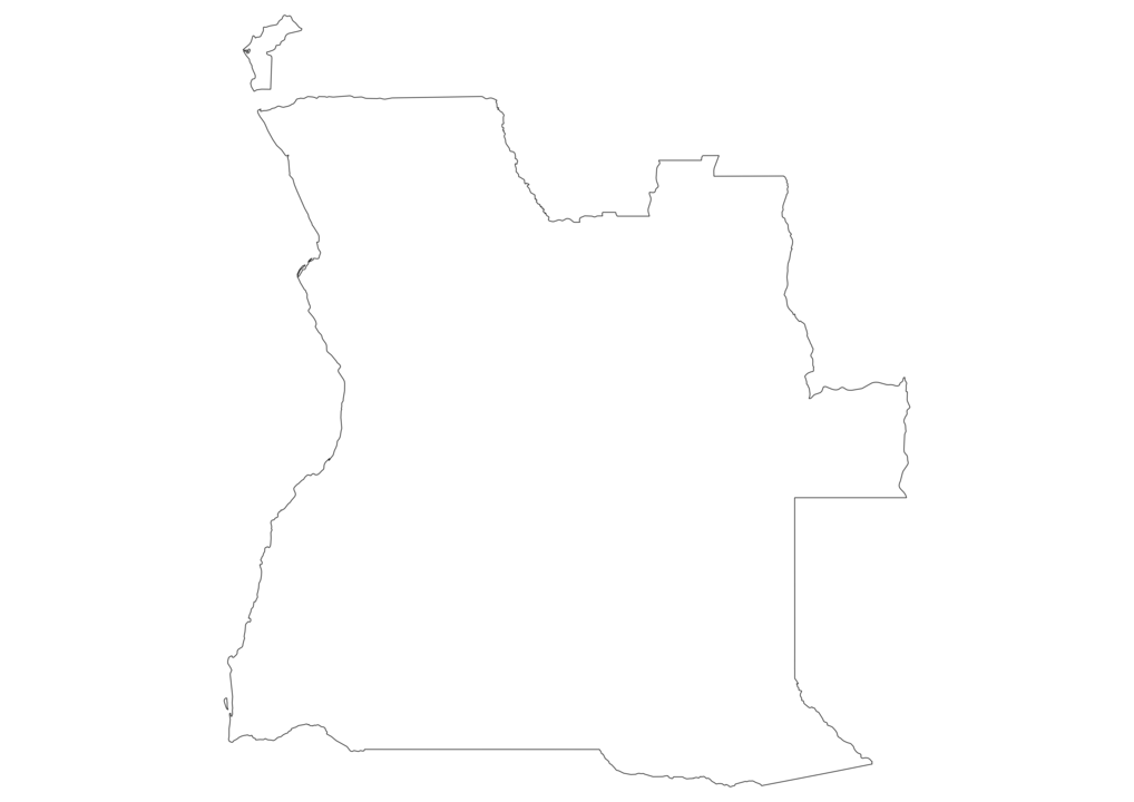 Angola Outline Map