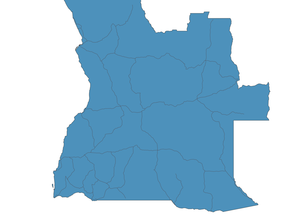 Map of Roads in Angola