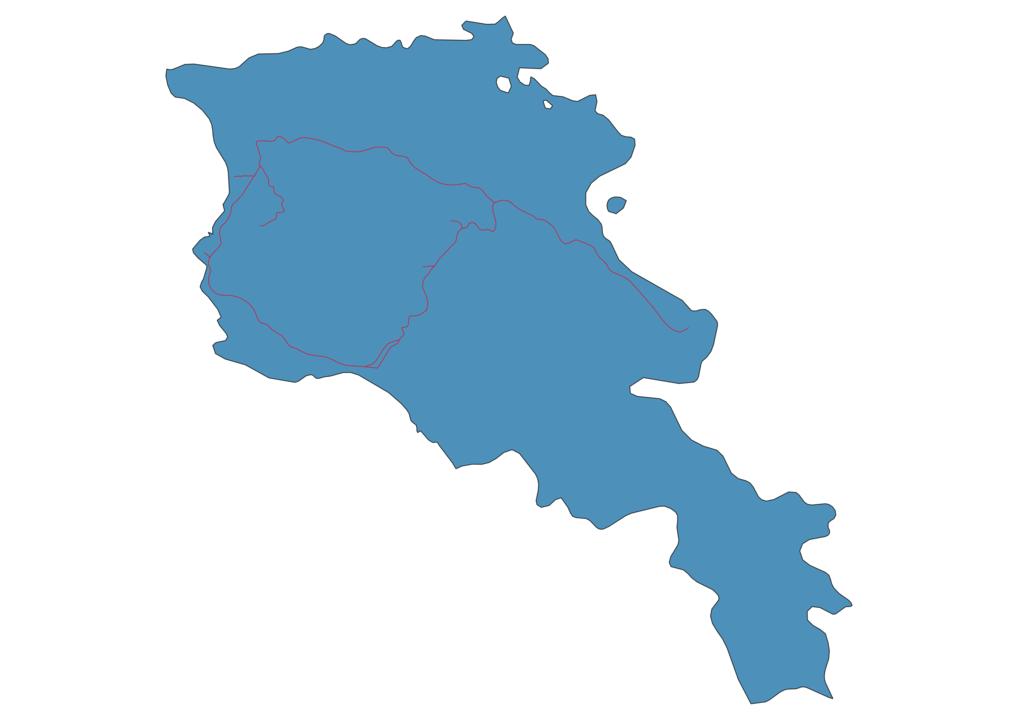 Armenia Railway Map