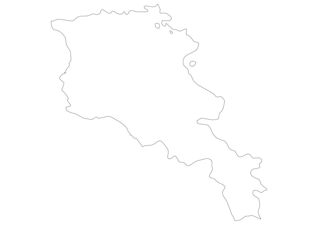 Armenia Outline Map