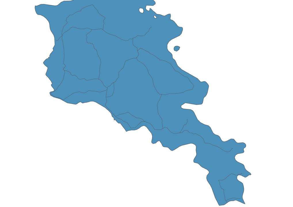 Map of Roads in Armenia