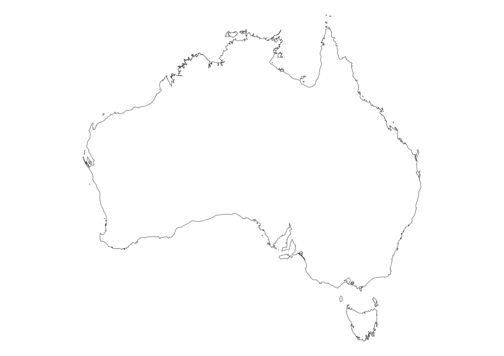 Australia Outline Map