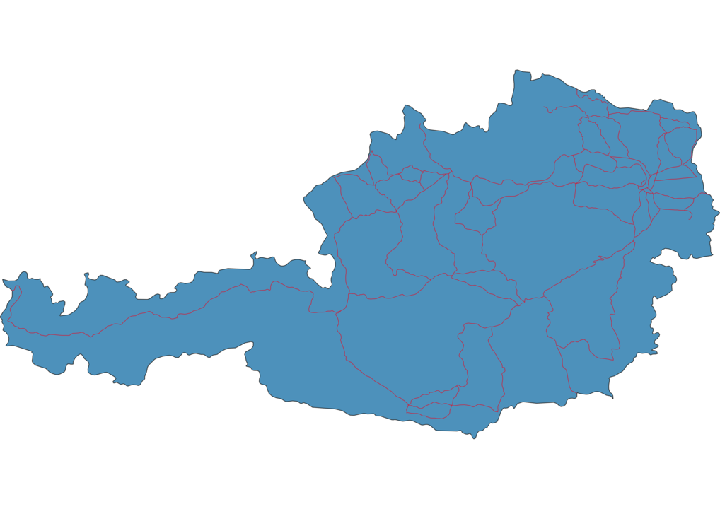 Austria Railway Map