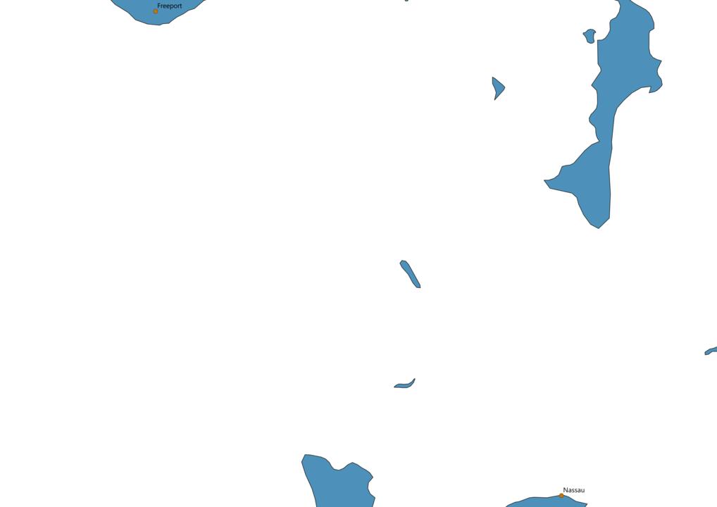 Bahamas Cities Map