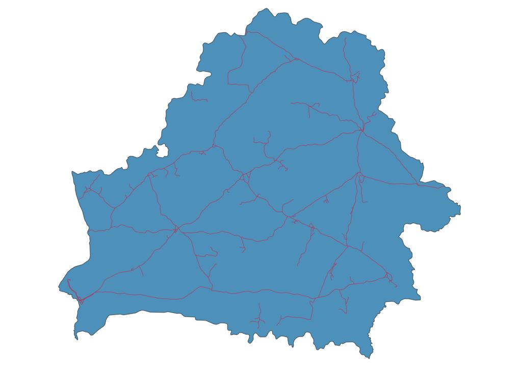 Belarus Railway Map
