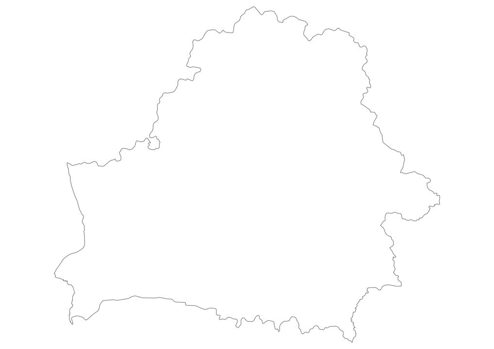 Belarus Outline Map