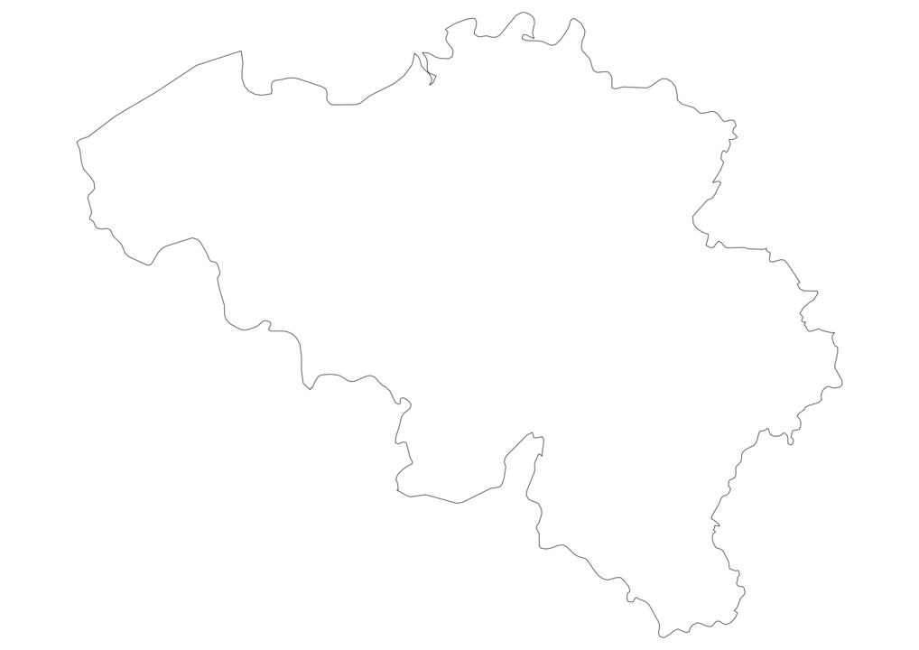 Belgium Outline Map