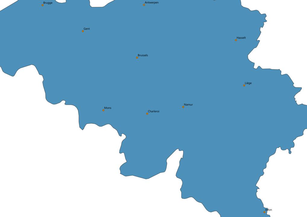 Belgium Cities Map
