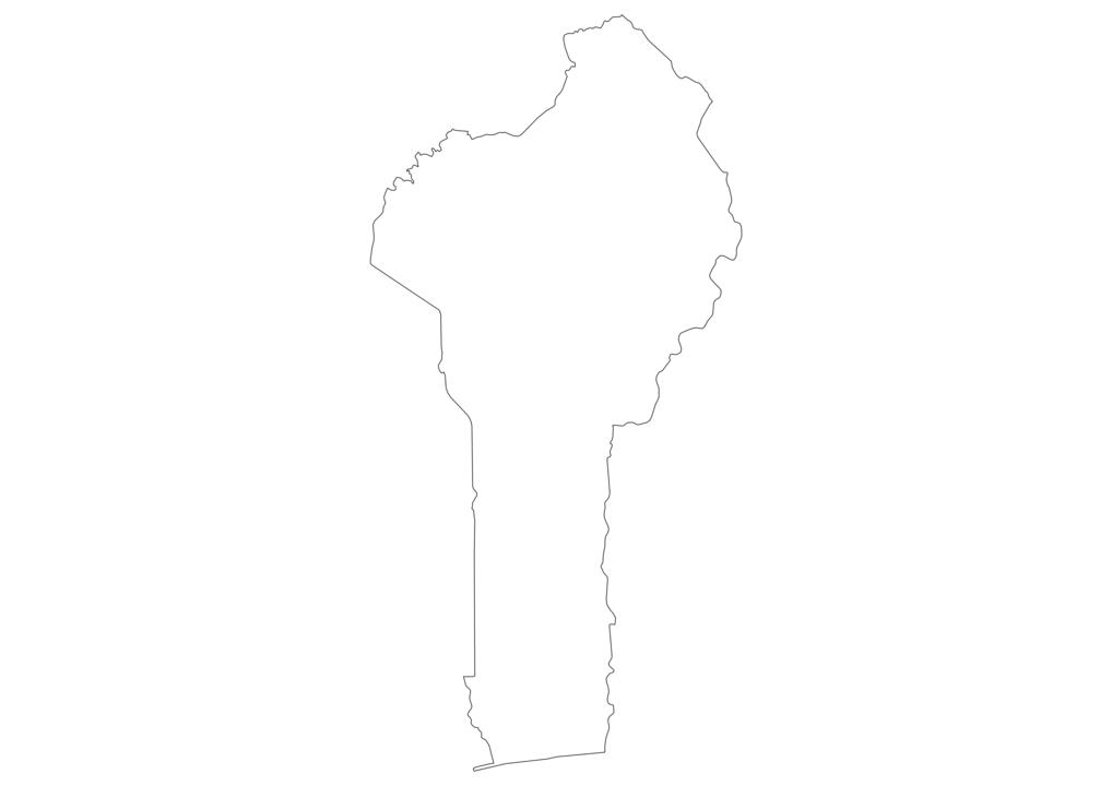 Benin Outline Map