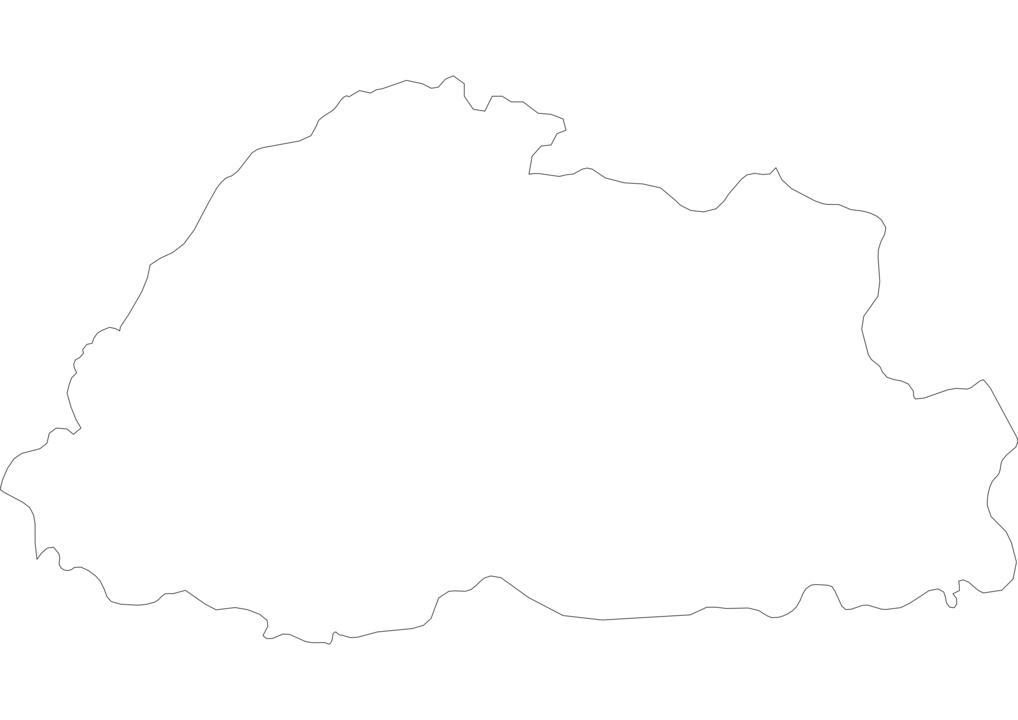 Bhutan Outline Map