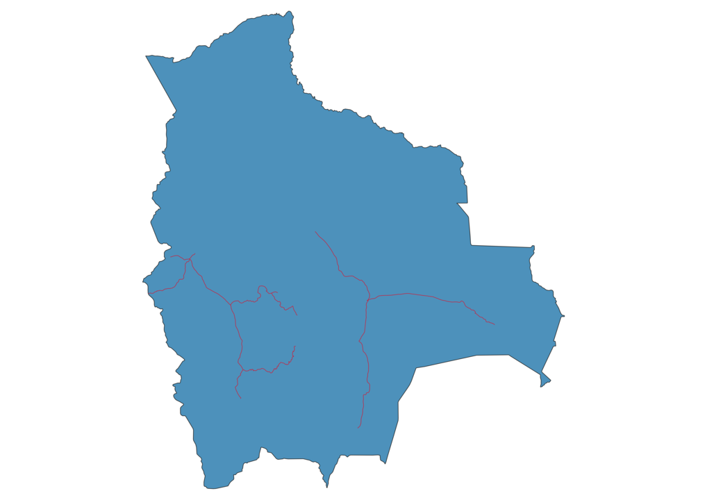 Bolivia Railway Map