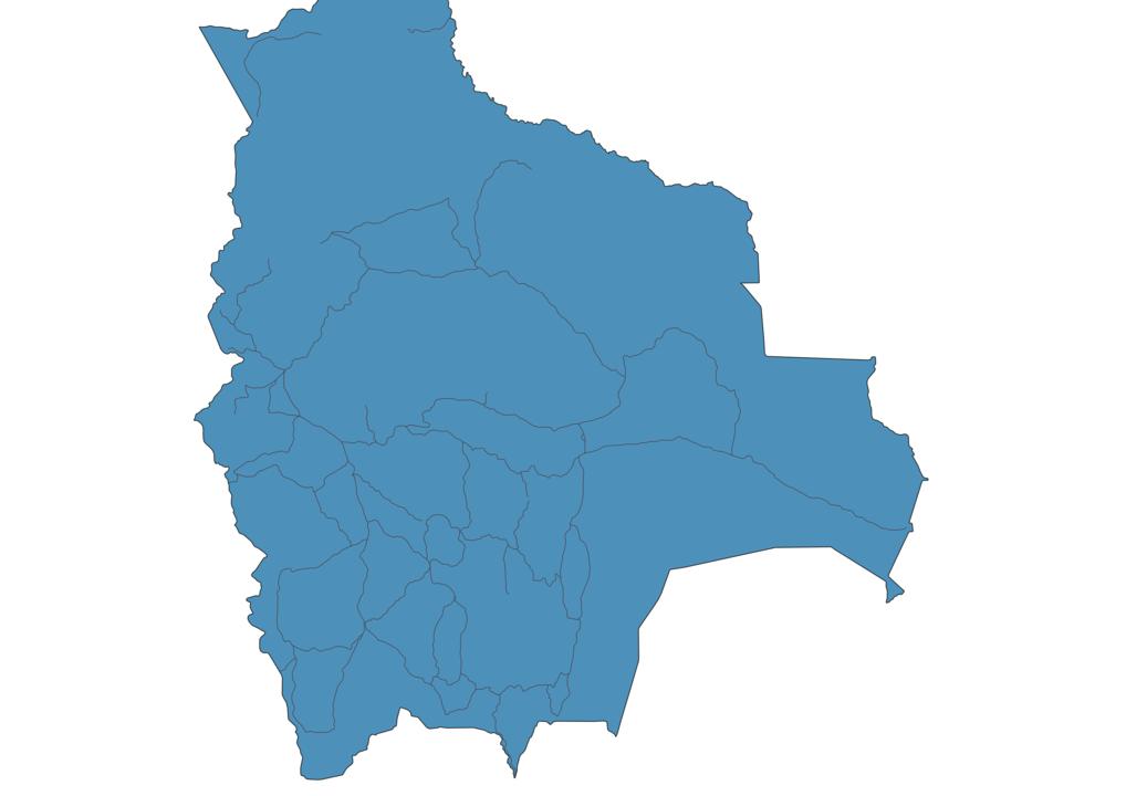 Map of Roads in Bolivia