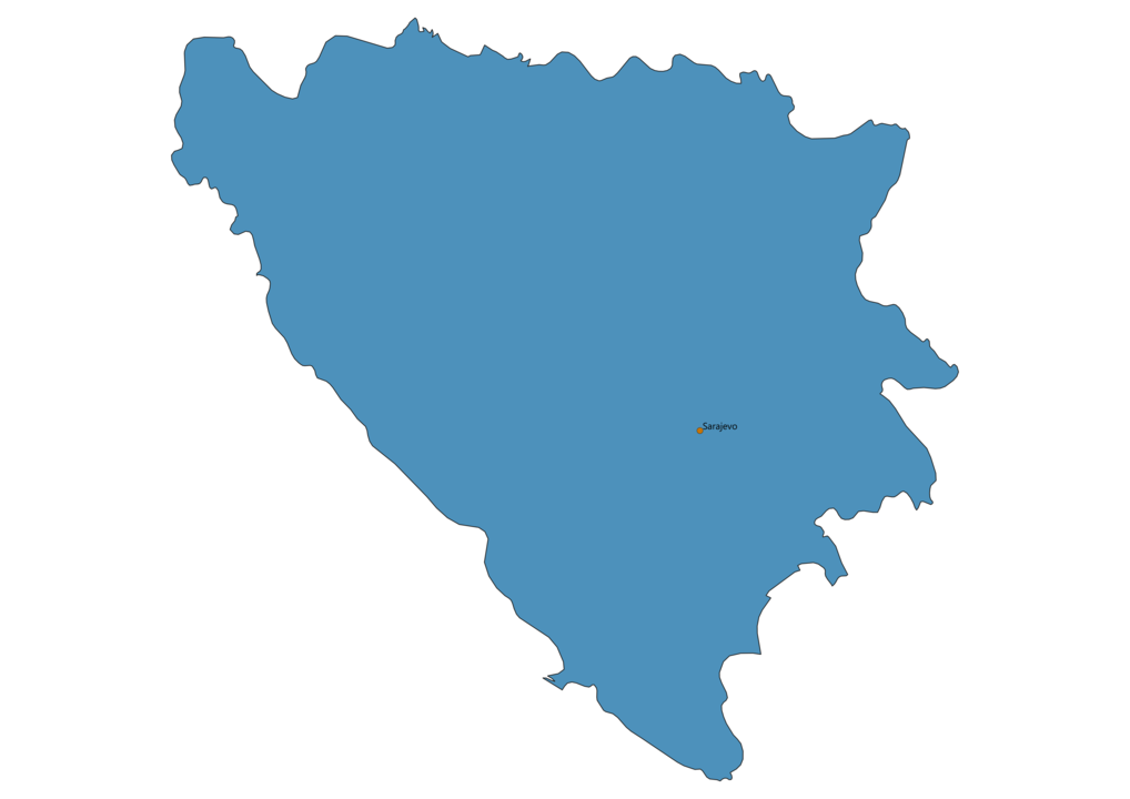 Map of Airports in Bosnia and Herzegovina