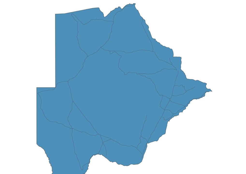 Map of Roads in Botswana