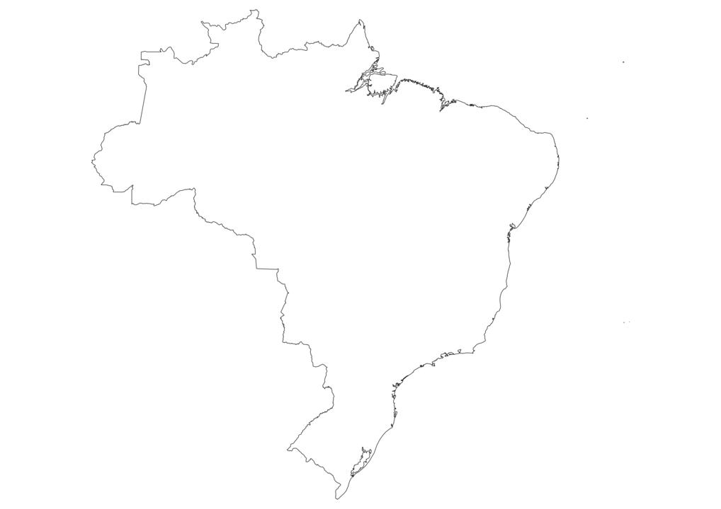 Brazil Outline Map
