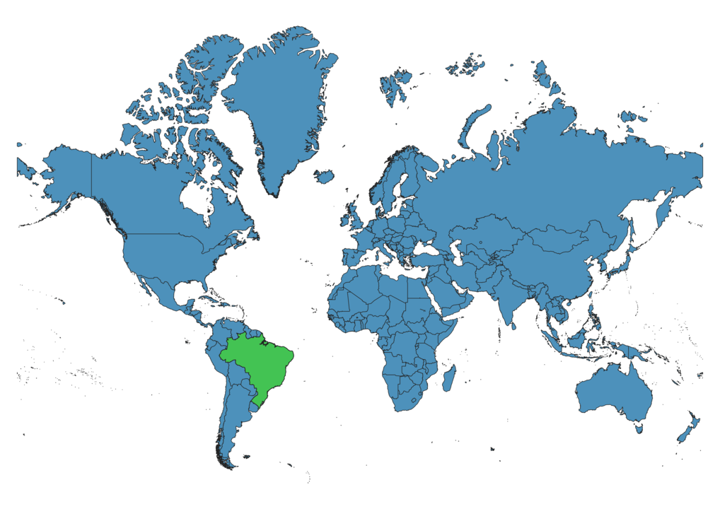 Brazil Location on Global Map