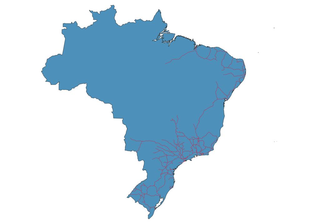 Brazil Railway Map