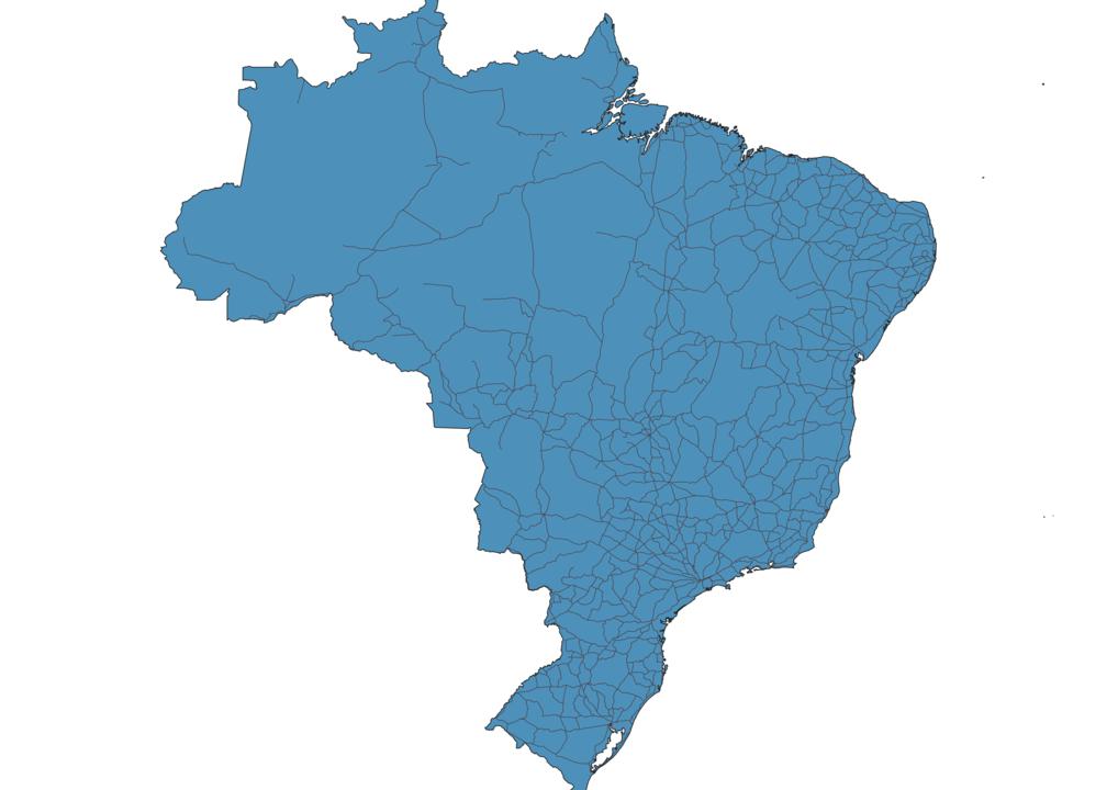 Map of Roads in Brazil