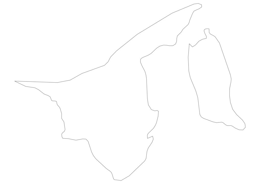 Brunei Outline Map