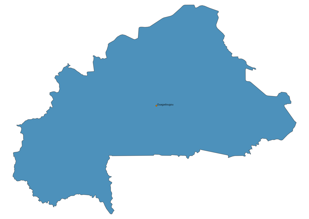 Map of Airports in Burkina Faso