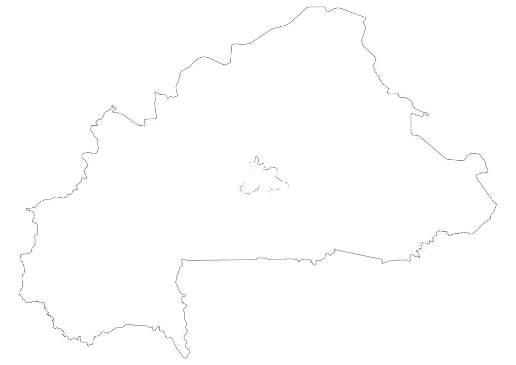Burkina Faso Outline Map