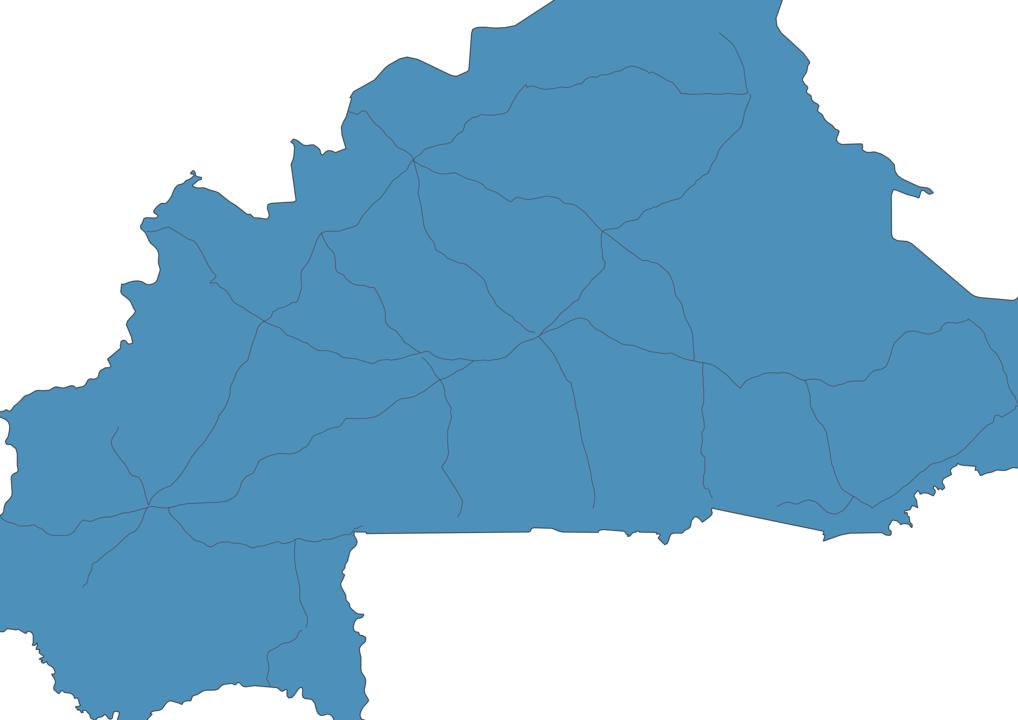 Map of Roads in Burkina Faso