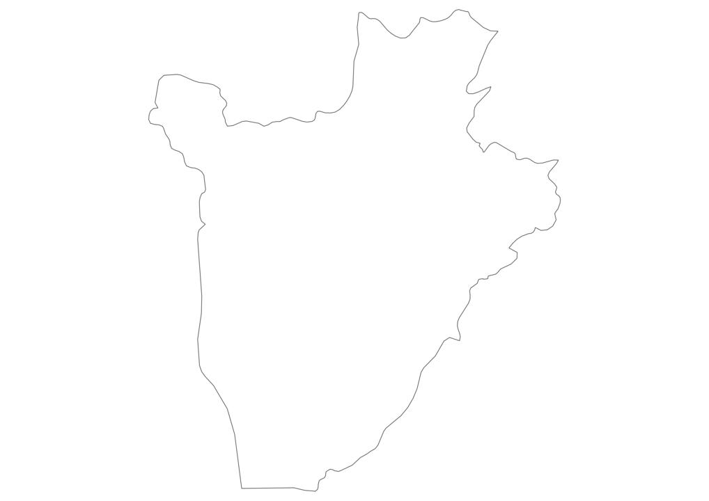 Burundi Outline Map