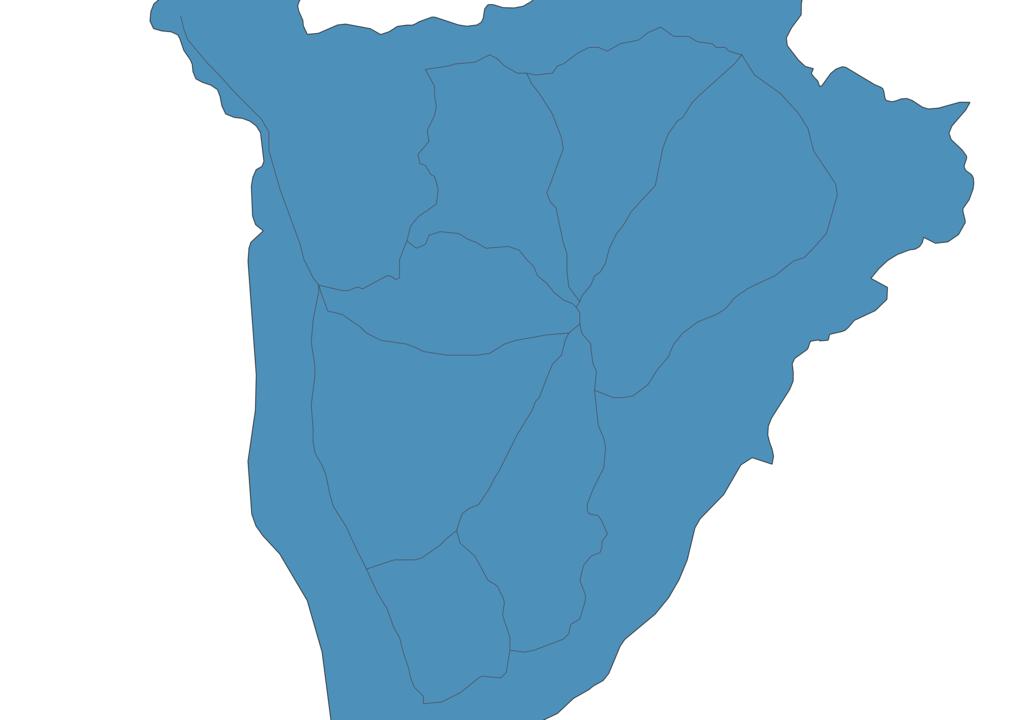 Map of Roads in Burundi
