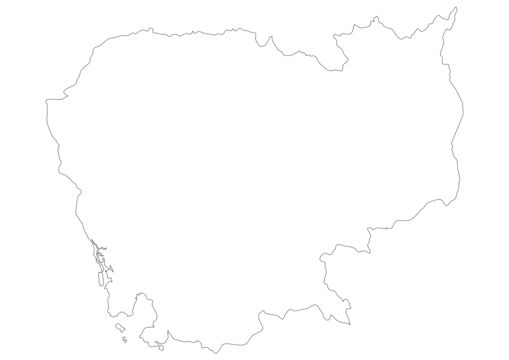 Cambodia Outline Map