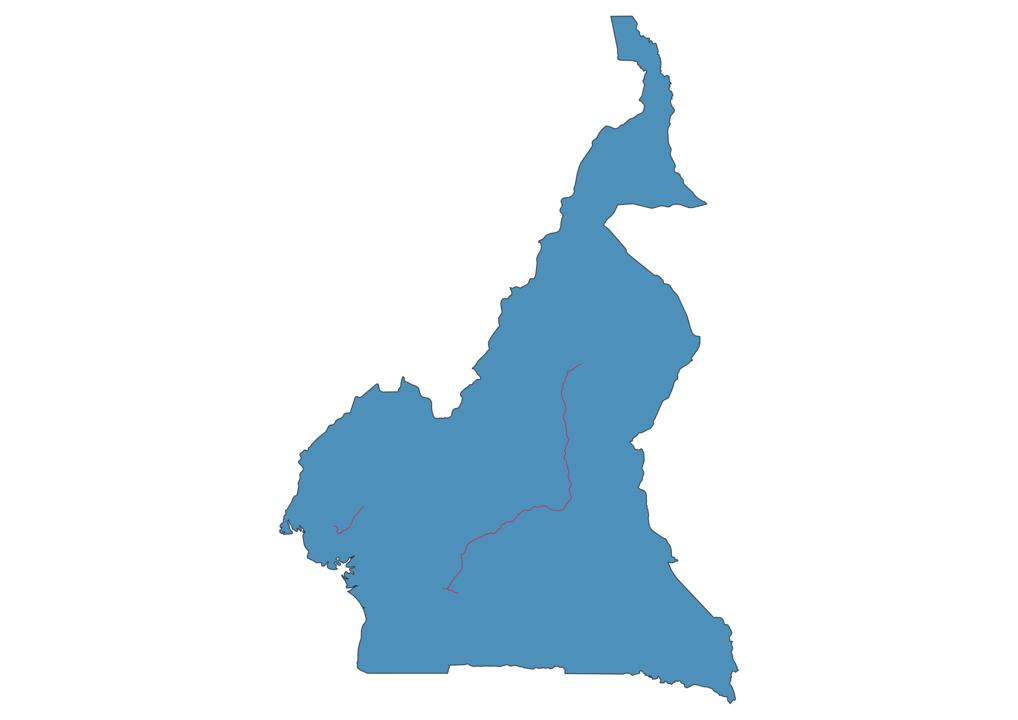 Cameroon Railway Map