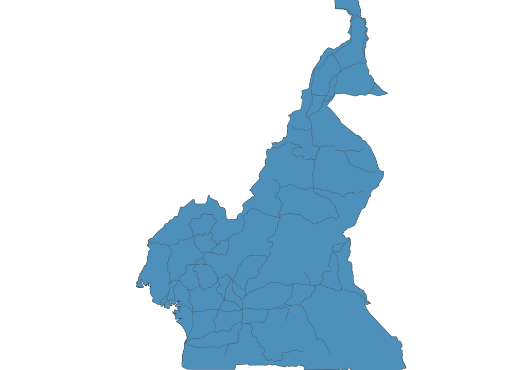Map of Roads in Cameroon