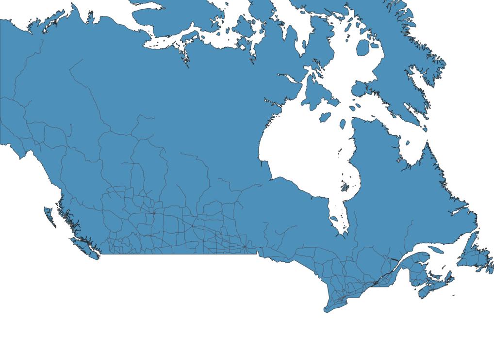 Map of Roads in Canada