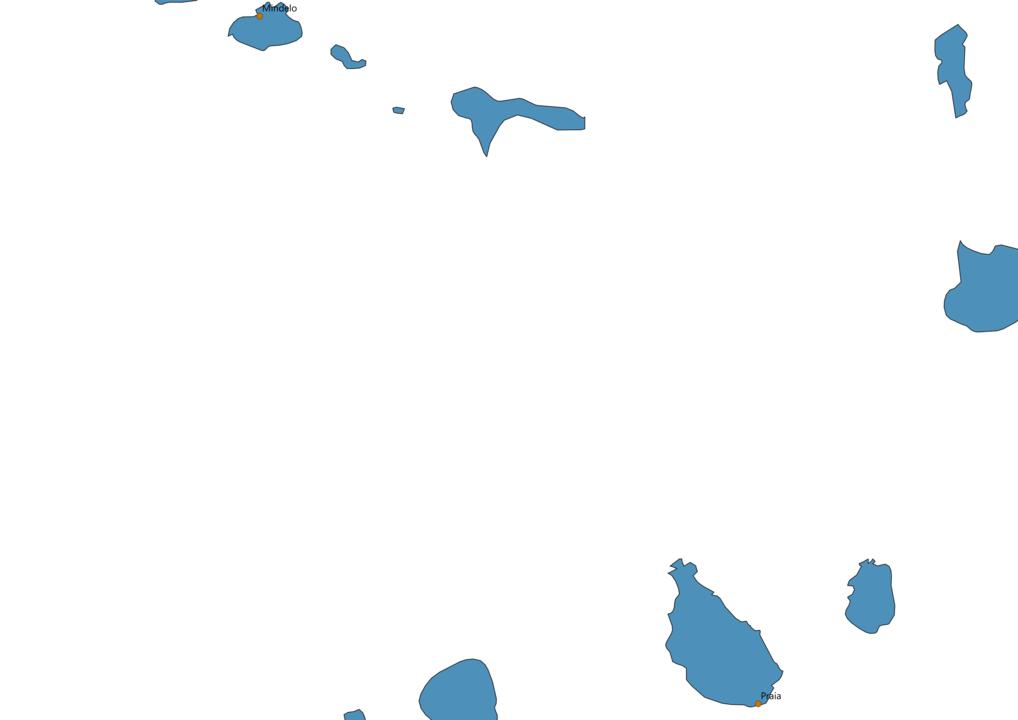 Cape Verde Cities Map