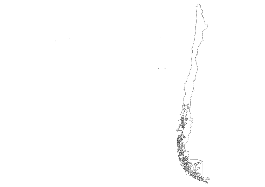 Chile Outline Map