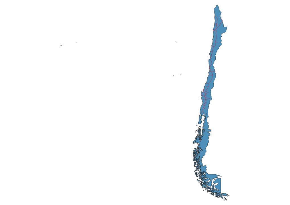 Chile Railway Map