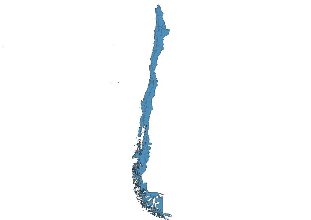 Map of Roads in Chile