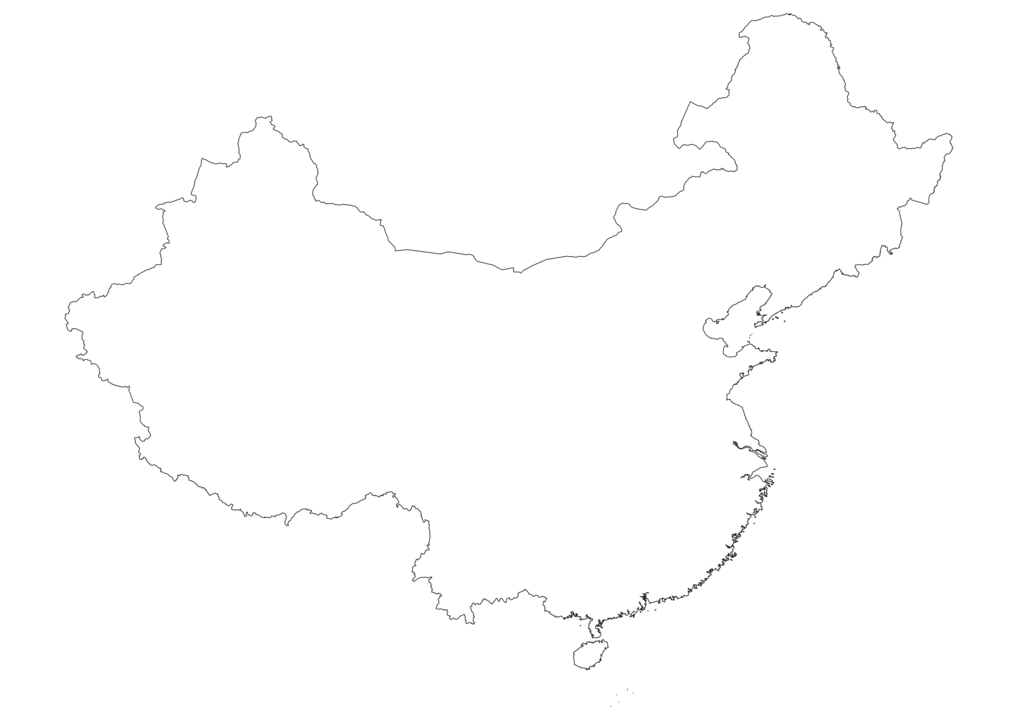 China Outline Map