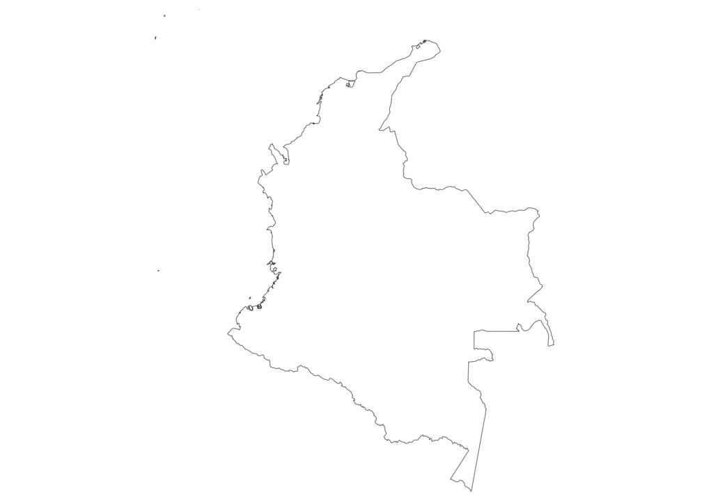 Colombia Outline Map