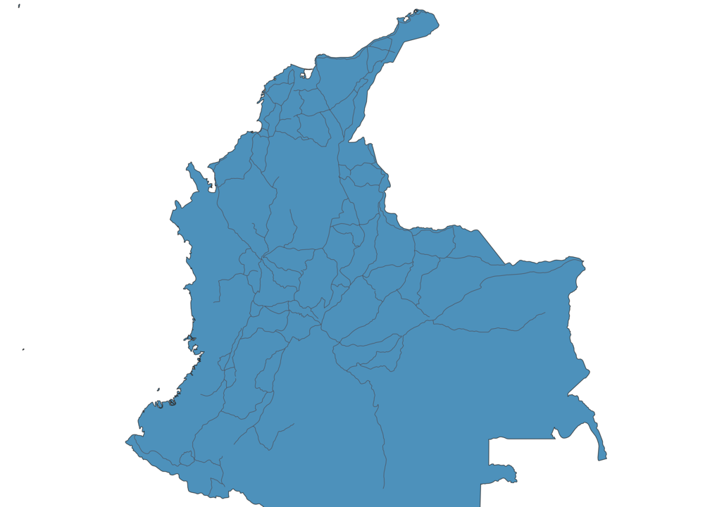 Map of Roads in Colombia