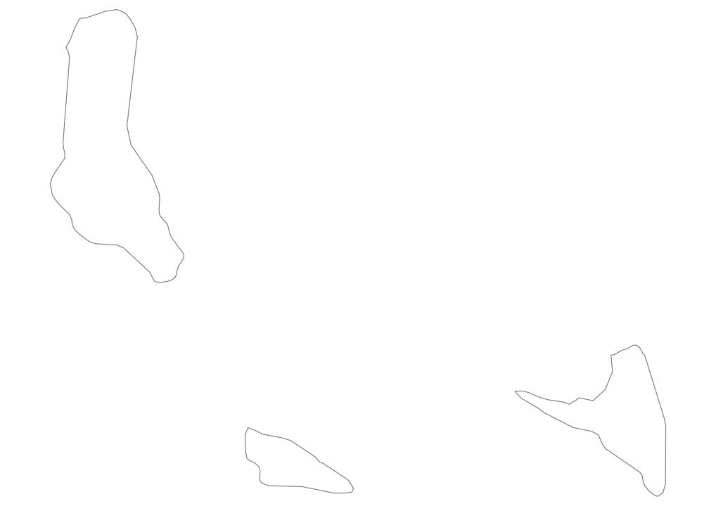Comoros Outline Map