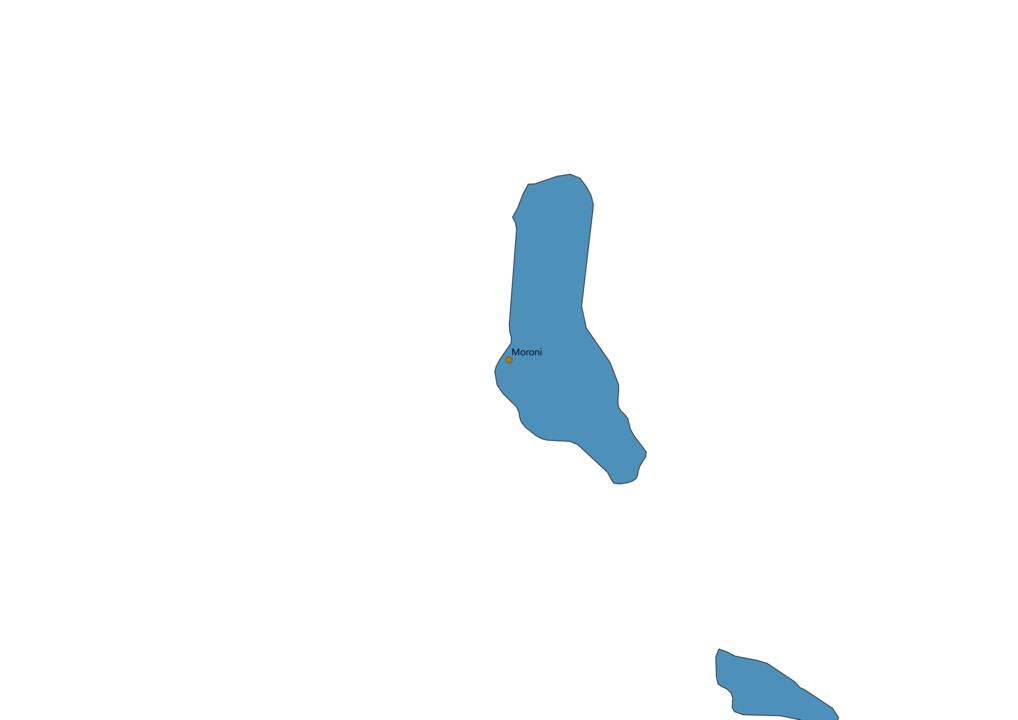 Comoros Cities Map