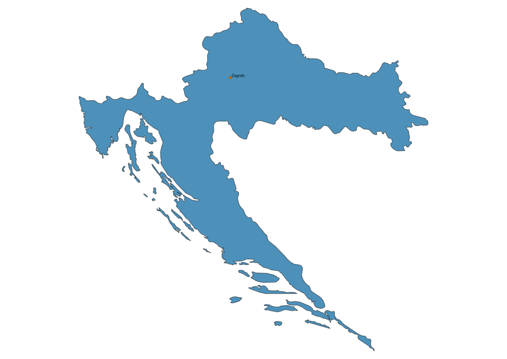 Map of Airports in Croatia