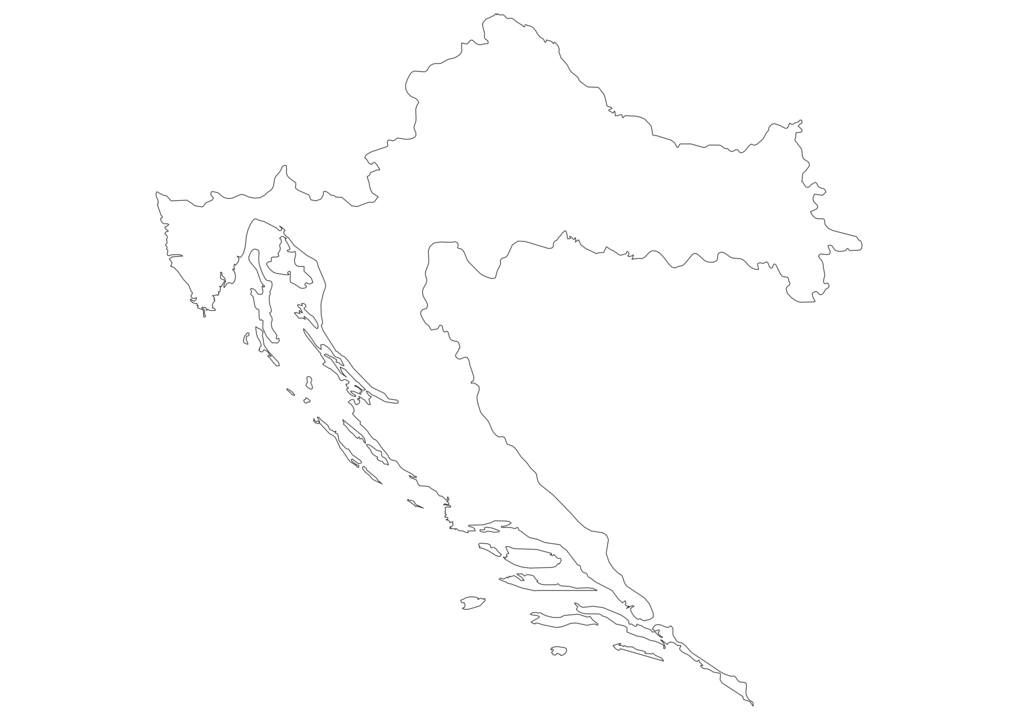 Croatia Outline Map