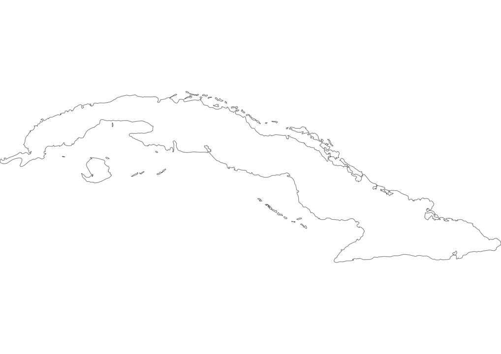 Cuba Outline Map