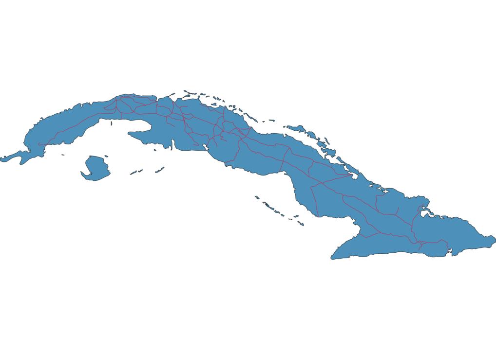 Cuba Railway Map