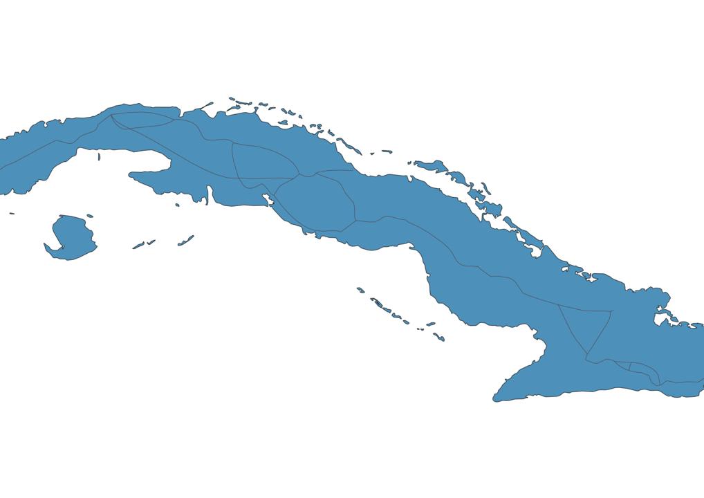 Map of Roads in Cuba